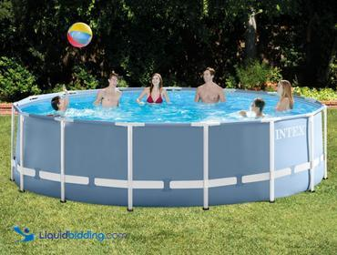 Intex Prism Frame Pool Set. 15ft x 48 inches. Unable to test, verified by D. ref#SA0510