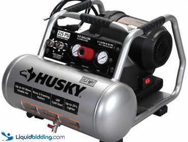 LiquidBidding | Husky 4 gall Air Compressor 225 PSI High