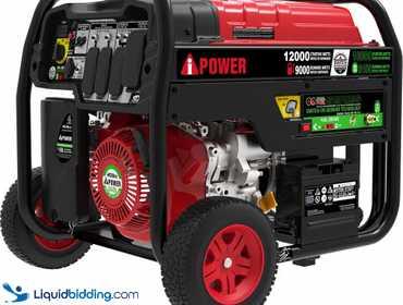 LiquidBidding | A-iPower 9,000W Dual Fuel Powered Electric