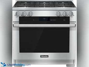 Miele Range, Model # HR 1934 LP,  36 inch Range Dual Fuel with M Touch controls, Moisture Plus...