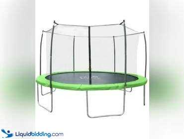 Pure Fun Dura-Bounce 15-Foot Trampoline with Enclosure 9315TS, unused.    REF#483HDXC470059