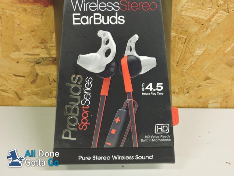 All Done-Gotta Go   Earbuds - Tzumi ProBuds Comfort Bluetooth