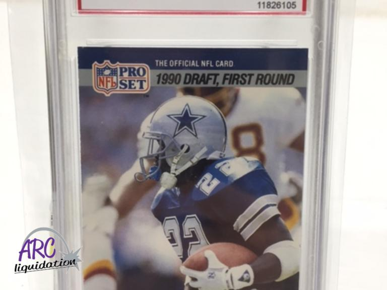 Arc Liquidation Group 1990 Nfl Pro Set Emmitt Smith Rookie