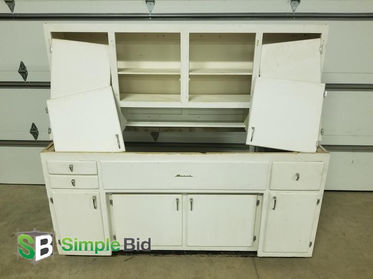 SimpleBid Inc. | Vintage Kitchen Sink Base Cabinet and...