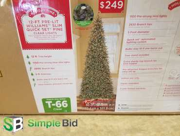 SimpleBid Inc. | Holiday Time 12-Ft Pre Lit William...
