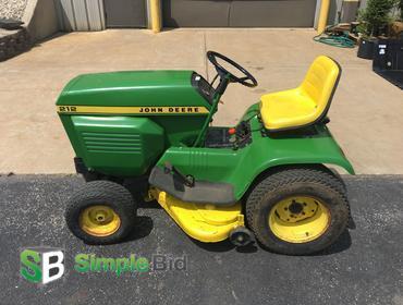 Simplebid Inc John Deere 212 Lawn Tractor Runs