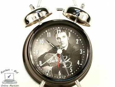 Rocket-Bid com   Elvis Presley Alarm Clock, open box, works perfect
